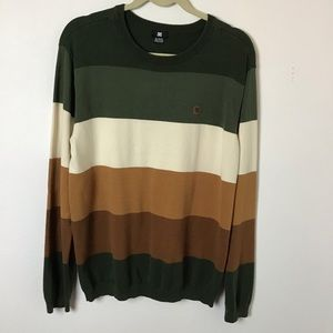 DC- Striped Cotton Sweater